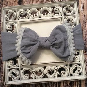 Other - Baby Girls Gray Knit Bow Headband